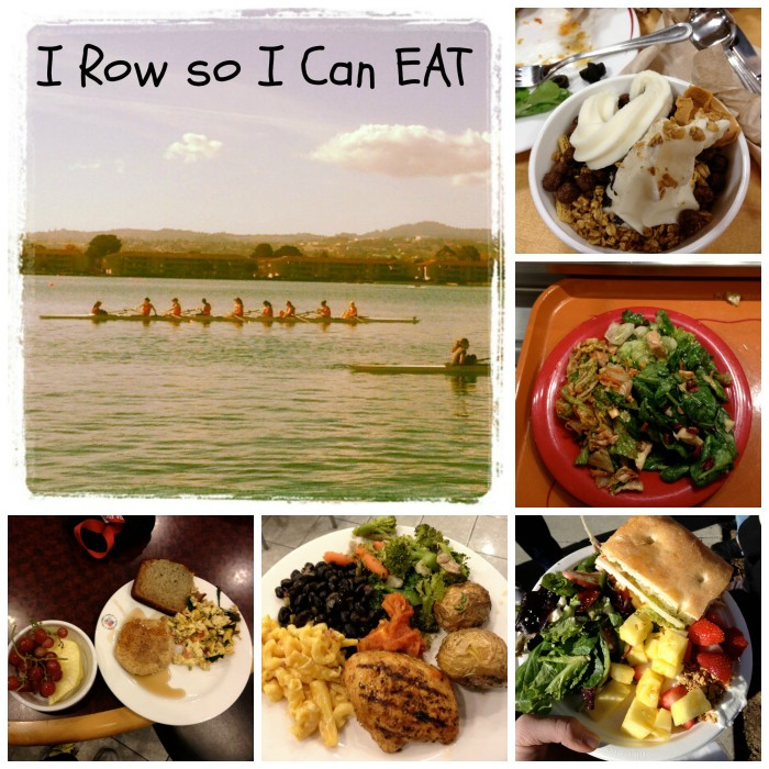 row and food